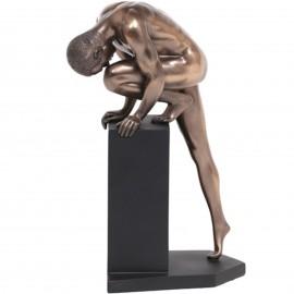 Statue érotique homme nu en résine (Ludovic) - 22 cm