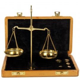 Balance trébuchet coffret bois - 19 cm