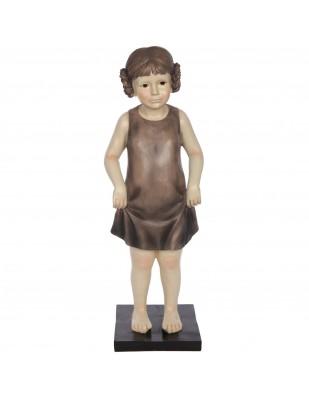 Statue en résine fillette qui se tiens la jupe - 60 cm