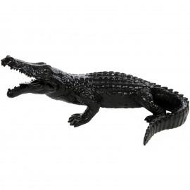 Statue CROCODILE noir en résine - 115 cm