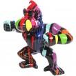 Statue en résine Donkey Kong gorille singe debout multicolore fond noir - Antoine - 83 cm