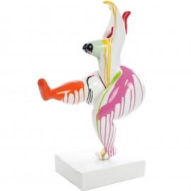 Statue femme design moderne en résine multicolore  - Amandine - 77 cm