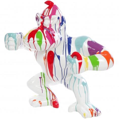 Statue en résine Donkey Kong gorille singe debout multicolore fond blanc - Cisco - 83 cm