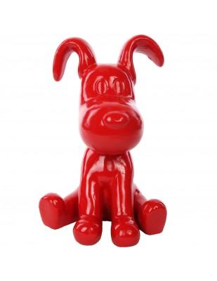Statue chien Snoopy rouge en résine - Julien - 28 cm