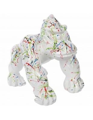 Statue en résine Donkey Kong gorille singe astre fond blanc - Noé - 37 cm
