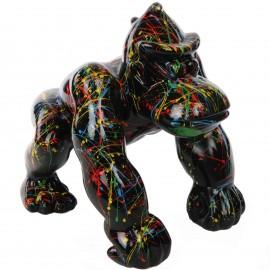 Statue en résine Donkey Kong gorille singe astre fond noir - Nono - 37 cm