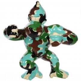 Statue en résine Donkey Kong gorille singe militaire XXL-Sami- 120 cm