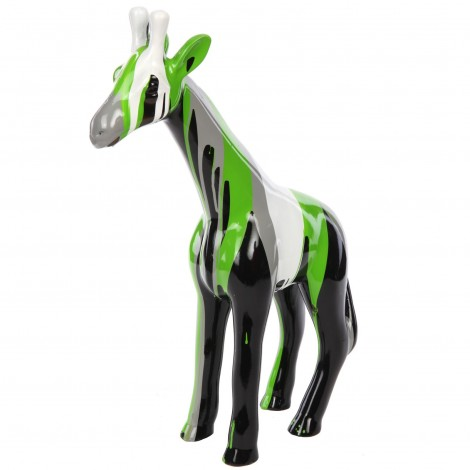 Statue en résine girafe multicolore -Lorie- 56 cm