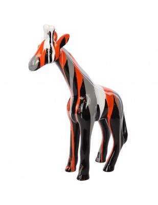 Statue en résine girafe multicolore -Lauriane- 56 cm