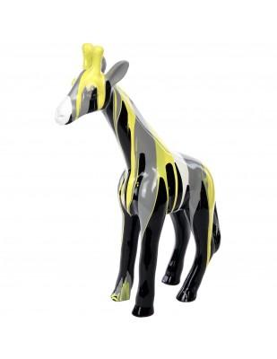 Statue en résine girafe multicolore -Ludivine- 56 cm
