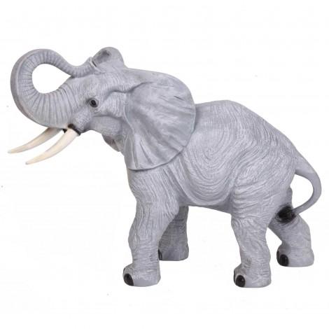Statue en résine éléphant -Raoul- 90 cm