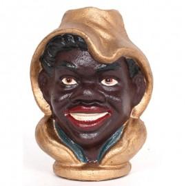Tirelire tête de noir en fonte - 14 cm