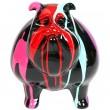 Statue en résine chien bouledogue anglais multicolore - Vidal - 31 cm.