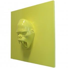 Tableau en résine tête de donkey kong gorille singe agressif - 80 cm