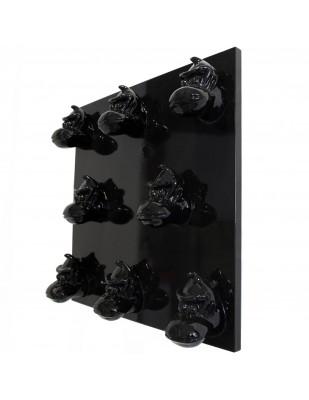 Tableau noir en résine huit têtes de donkey kong gorille singe - 80 cm