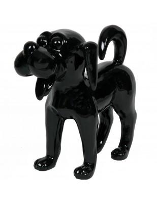 Statue en résine chien funny noir (Diesel) - 40 cm