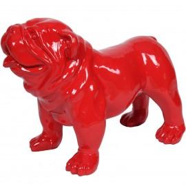 Statue en résine chien bouledogue anglais rouge (Taylor) - 58 cm