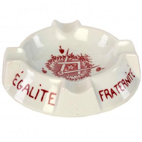 Cendrier en porcelaine franc-maçonnique, franc-maçon diamètre - 11.5 cm