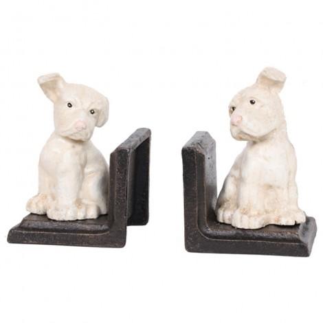 Serre-livres chien en fonte - 13 cm