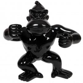 Statue en résine Donkey Kong gorille singe debout noir - Serge - 83 cm