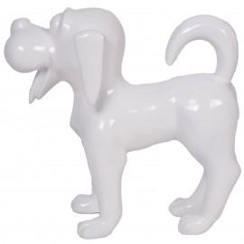 Statue en résine chien funny blanc -Luce- 40 cm