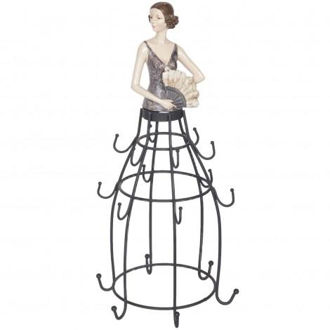 Baguier porte - bijoux statue femme - 34 cm