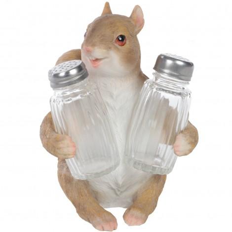 Service à condiments sel et poivre écureuil - 16 cm