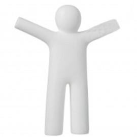 Statue en polyrésine homme ptit Louis blanc - 42 cm