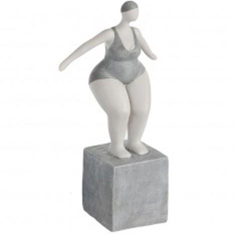Statue baigneuse femme ronde en Maillot De Bain - Lucienne - prête a se lancer