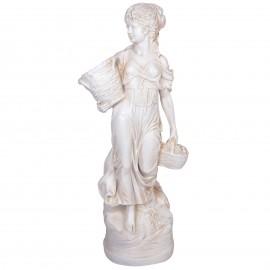 Statue en résine femme au panier jardinière - 135 cm