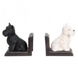 Serre-livres black & white assis en fonte - 12 cm