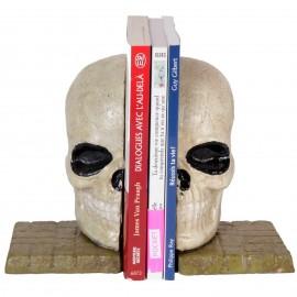 Serre-livres en fonte tête de mort - 18 cm