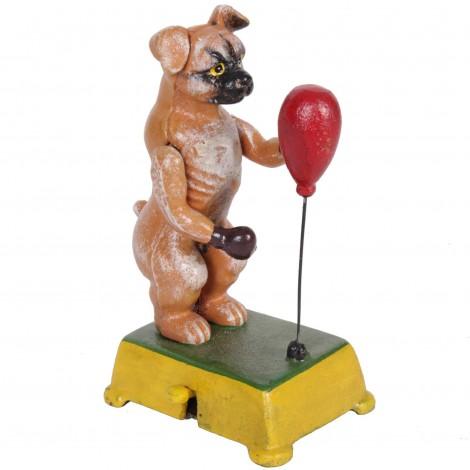 Automate manuel en fonte statue chien boxeur - 18 cm