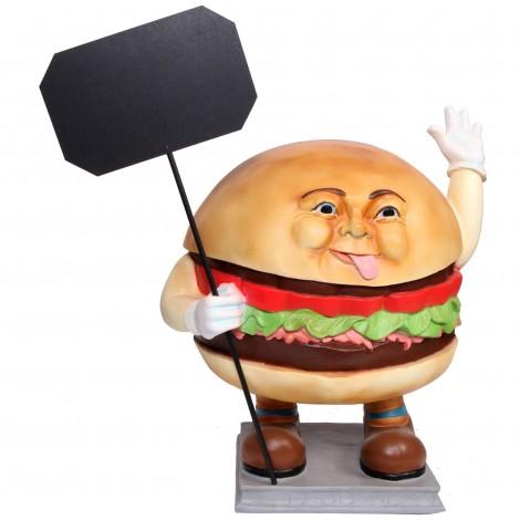 Stop-trottoir en résine homme hamburger - 93 cm