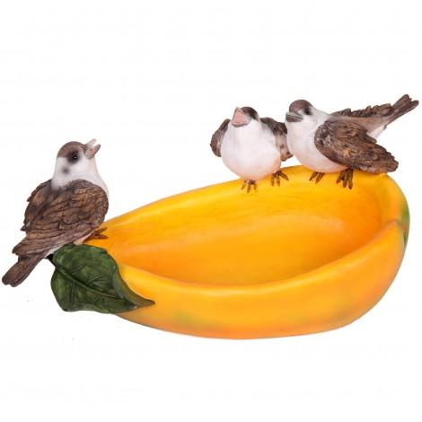 Bain d'oiseaux mangeoire en résine 32 cm