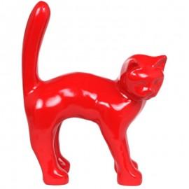 Statue en résine CHAT rouge - 45 cm