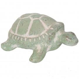 Statue tortue verte en terre cuite - 35 cm
