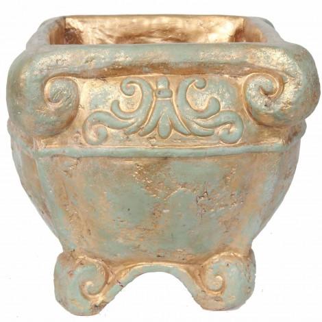 Grand vase carré en terre cuite - 41 cm