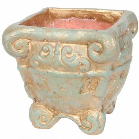Petit vase carré en terre cuite - 27 cm
