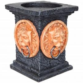Bougeoir porte bougie gothique en résine - 16 cm