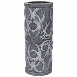 Set de deux verres motifs gothique en résine - 14 cm