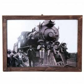 Cadre tableau photo [Zapatistas et Nacional de Mexico, n ° 739] - 43 cm