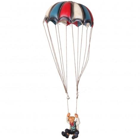 Statue clown parachutiste en résine - 56 cm