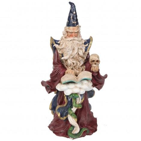 Statue de Merlin serpent et le grand livre - 30 cm