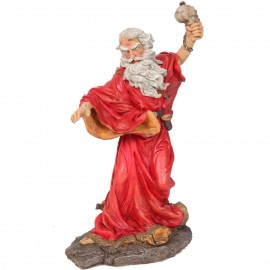 Statue de Merlin et la tête de mort - 36 cm