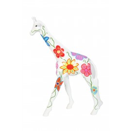 Statue en résine girafe multicolore - Lilou - hauteur 63 cm