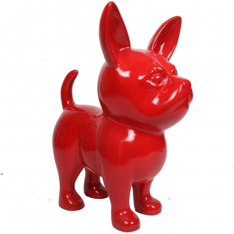 Statue CHIHUAHUA rouge en résine - 90 cm