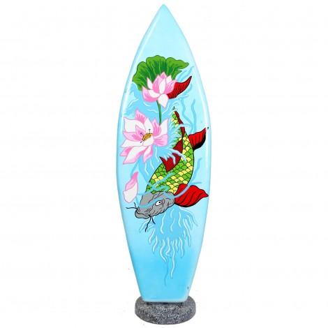 Planche de surf en résine oeuvre d'artiste - 145 cm