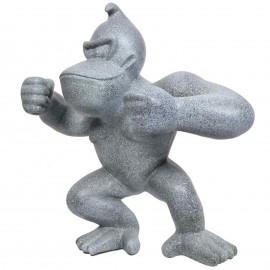 Statue en résine Donkey Kong gorille singe façon granit Luc - 120 cm