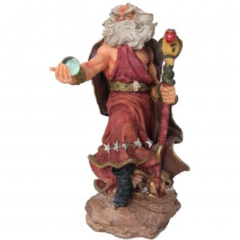 Statue en résine de Merlin et la boule de cristal 30 cm